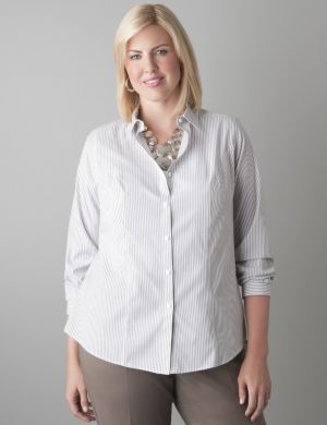 Striped non iron shirt
