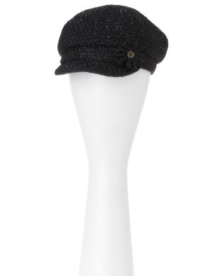 Boucle cap with rosette