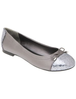 Glitter toe ballet flat