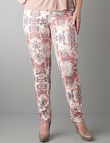 Plus Size Floral Skinny Jean by Lane Bryant