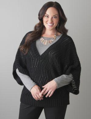 Open stitch pullover sweater