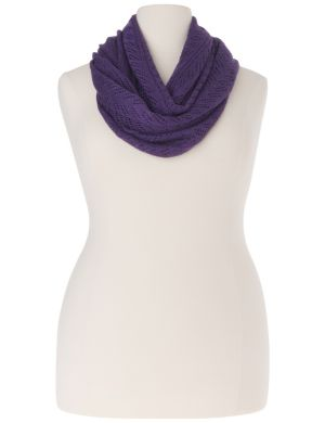 Pointelle shimmer infinity scarf
