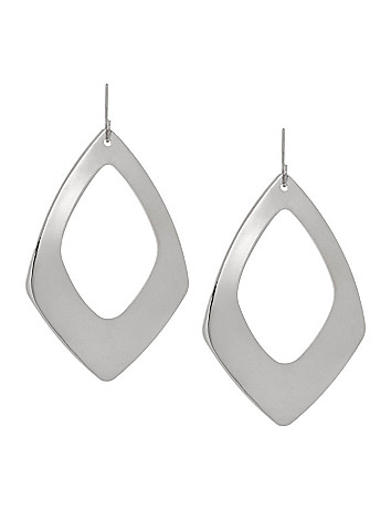 Modern cutout teardrop earrings by Lane Bryant