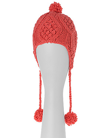 Pom Pom Trapper Hat by Lane Bryant