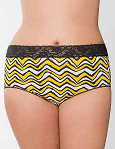 Sassy cotton lace waist brief panty