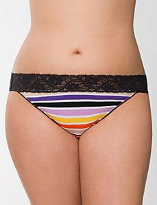 Sassy cotton lace waist bikini panty