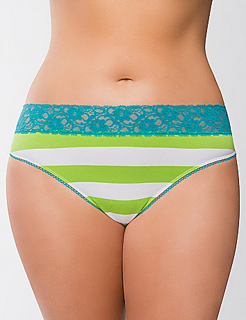 Plus Size Lace Waist Thong by Cacique