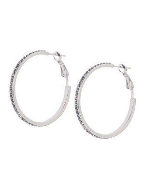Stone studded hoop earrings by Lane Bryant