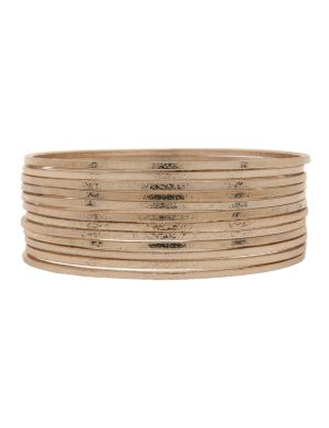12 row dusted bangle bracelet set by Lane Bryant