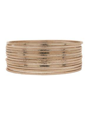 12 row dusted bangle bracelet set by Lane Bryant