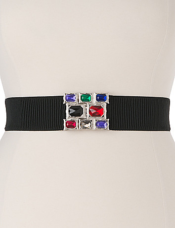 Plus Size Rhinestone Stretch Belt by Lane Bryant