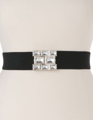 Rhinestone stretch belt