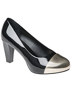 Patent Heel with Cap Toe by Lane Bryant