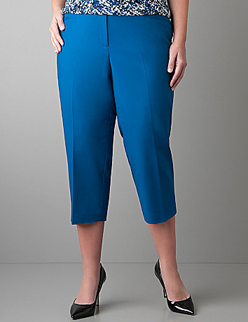 Woven cotton capri by Lane Bryant