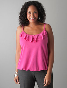 Plus Size Ruffled Bubble Hem Cami by Lane Bryant