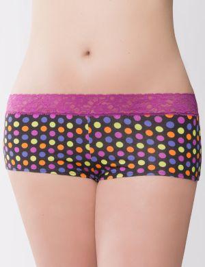 Sassy lace waist boyshort panty