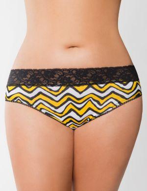 Sassy lace waist cotton hipster panty