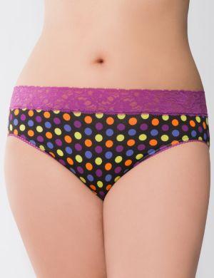 Sassy lace-waist hipster panty