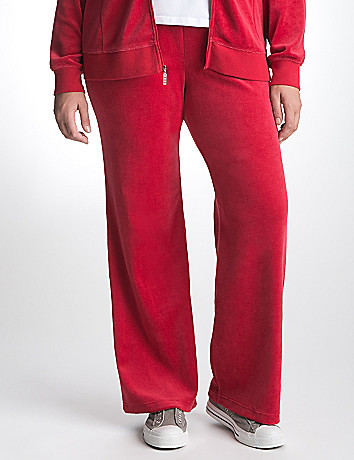 Plus Size Velour Active Pant by Lane Bryant