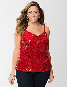 Paillette sequin cami by LANE BRYANT