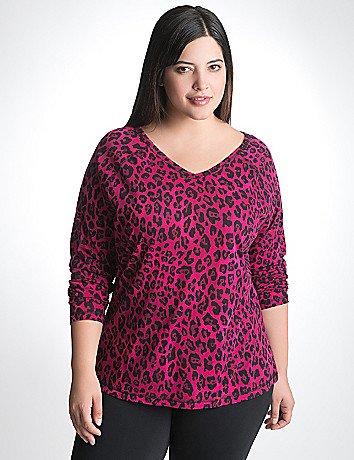 Plus Size Animal Print Tee by Lane Bryant