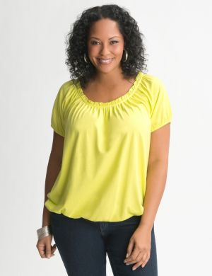 Bubble hem peasant tee