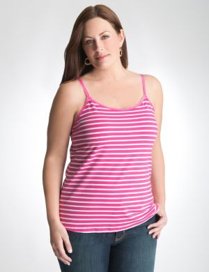 Striped cotton stretch cami