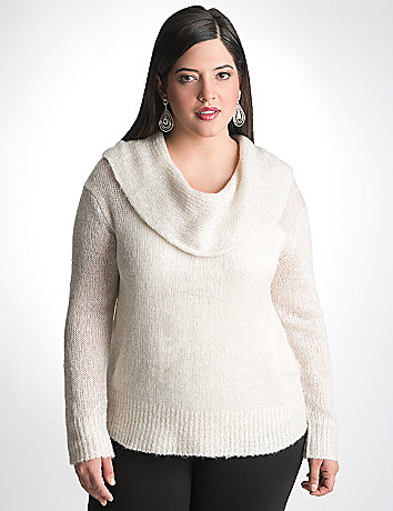 Plus Size Cowl Neck Sweater by Lane Bryant