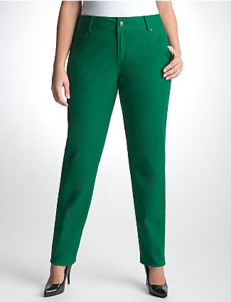 Plus-Size Jeans: Color- Green