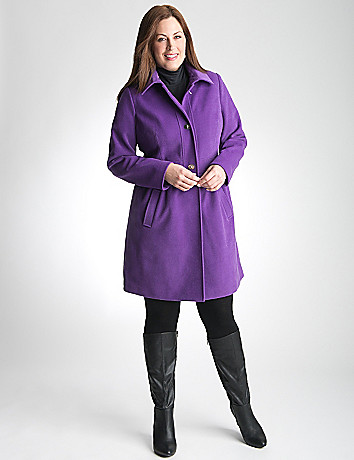 Plus Size Babydoll Coat by Lane Bryant