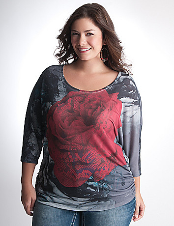 Plus Size Rose Dolman by Seven7