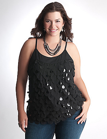 Plus Size Sequin Cami by Lane Bryant