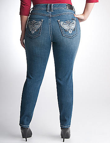Full Figure Embellished skinny jean by Seven7