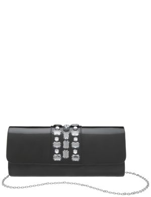 Patent jewel clutch by Lane Bryant
