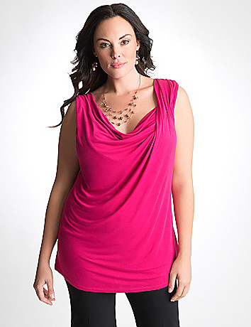 Plus Size Knit Shell Tank by Lane Bryant
