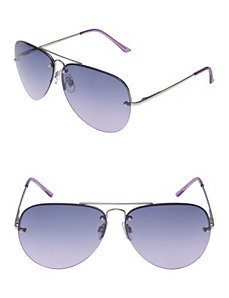 Aviator sunglasses with colored lenses by Lane Bryant