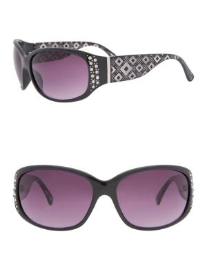 Etched animal print sunglasses