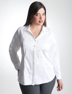 Tuxedo front long sleeve shirt