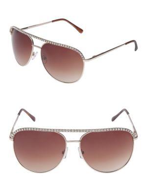 Cubic zirconium aviator sunglasses
