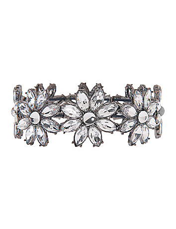 Rhinestone flower bracelet by Lane Bryant