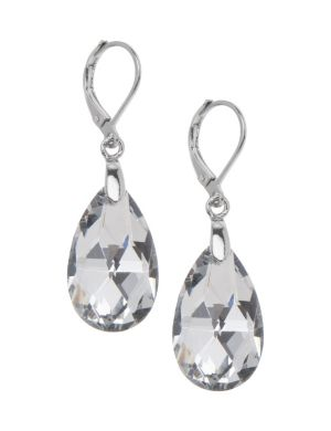 Faceted teardrop earrings by Lane Bryant