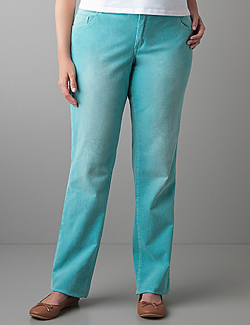 Skinny colored cord pant by Lane Bryant