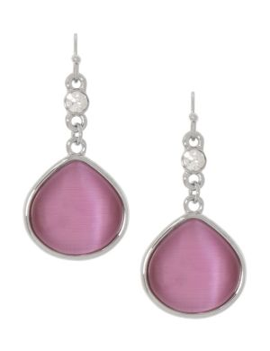 Cat's eye teardrop earrings by Lane Bryant