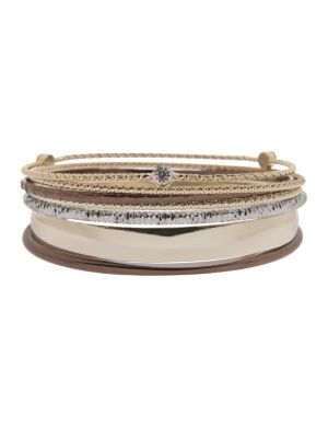 Tri tone bangle bracelet set by Lane Bryant