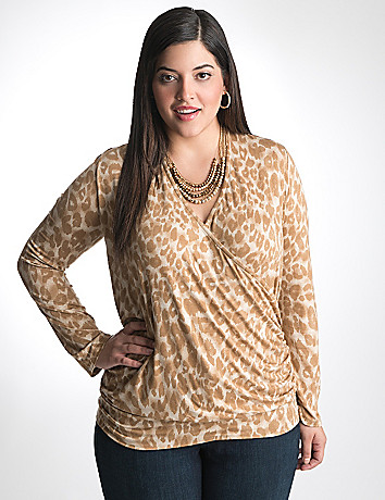 Plus Size Surplice Top by Lane Bryant