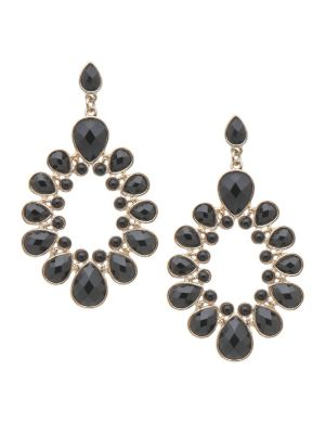 Faceted stone earrings by Lane Bryant