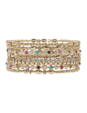 8 row bangle bracelet set by Lane Bryant