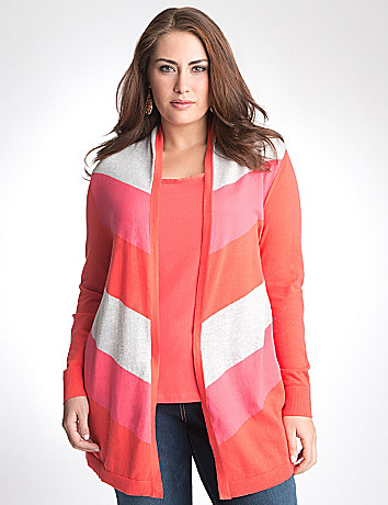 Multicolored chevron cardigan by Lane Bryant