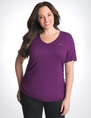 Ruched side tee by Reebok