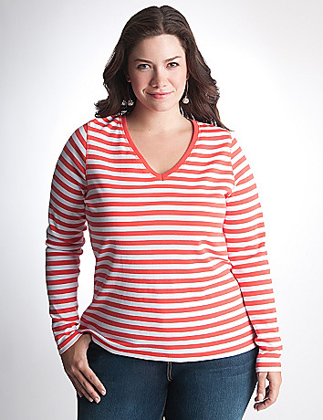 Full Figure Long Sleeve Tee by Lane Bryant